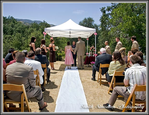 Wedding Ceremony In Backyard : There backyard wedding ceremony took place at a countryside home over