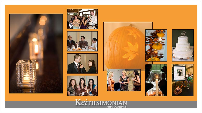 Fall wedding with a pumkin theme at Hiddenbrooke golf club