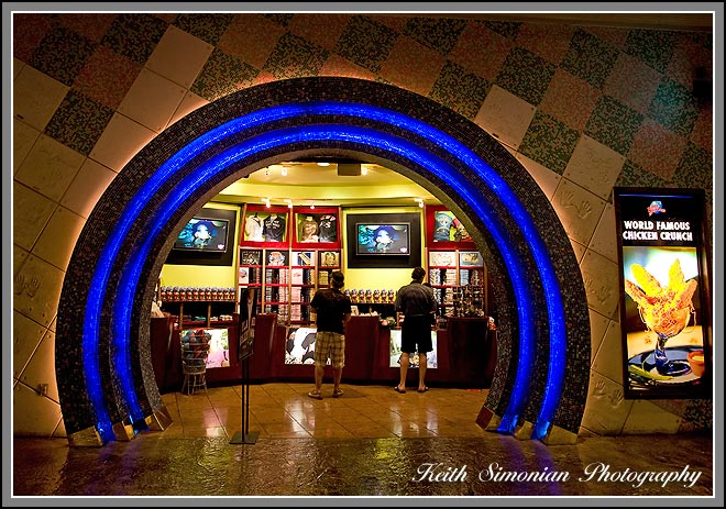 The Planet Hollywood store inside the Forum shops
