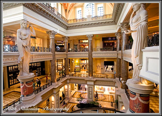 Inside the Forum shops - Caesars Palace