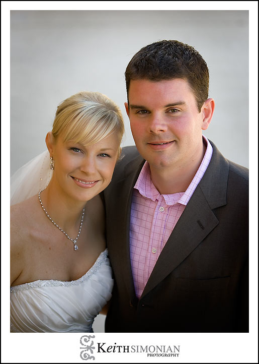 Wedding day portrait of bride and groom at the Nicholson Ranch winery in Sonoma, CA