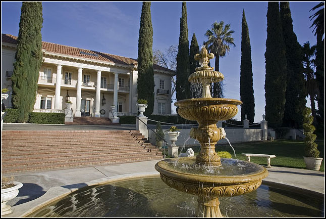 Wide angle shot showing the elegance and splendor of the Grand Island Mansion in Walnut Grove, California 95690