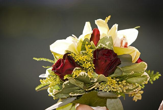 Bridesmaid flower bouquet photo