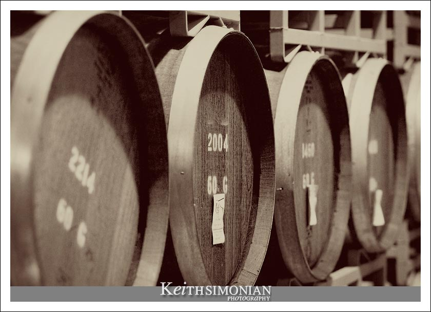 Barrels where the wine is stored till it reaches perfection.
