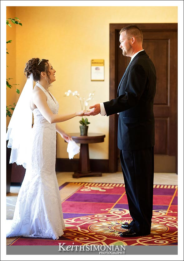 Francesca & Larry see each other for the first time on their wedding day.