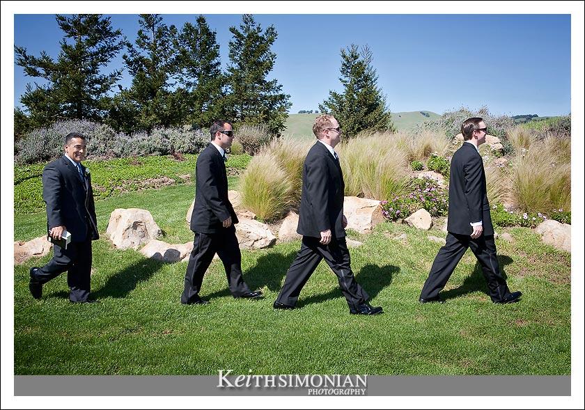 John, Paul, George, and Ringo aka The Beatles Abby Road Album Cover.