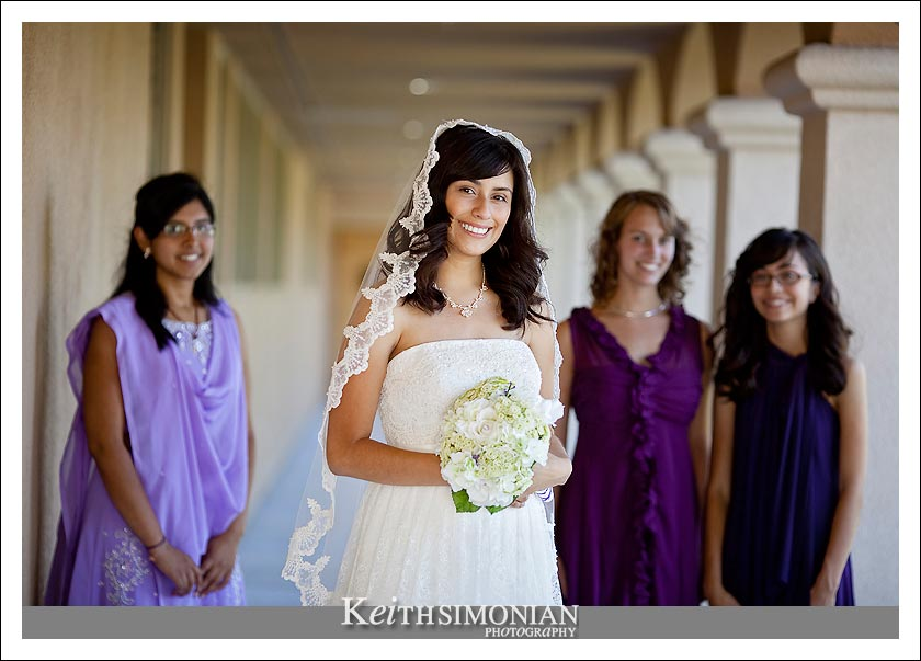 Bridgett with her maid of honor and bridesmaids