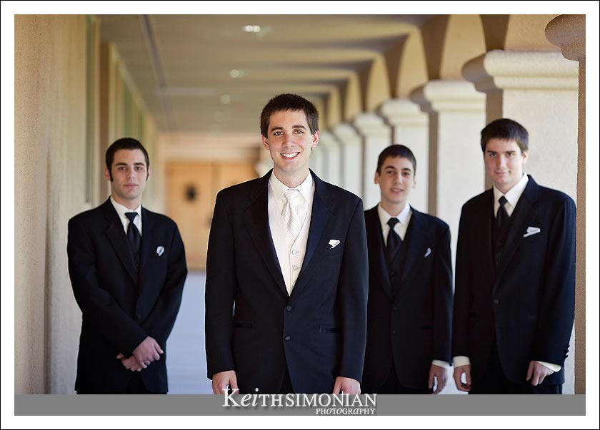 Nathan with his best man and groomsmen