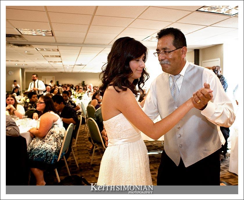 Bridgett dances with her father