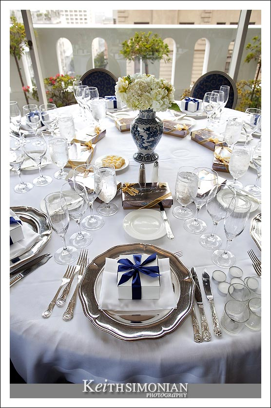 Place Setting with Ghirardeli chocolates for every guest