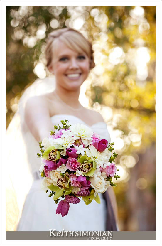 The bride and her lovely bouquet photo
