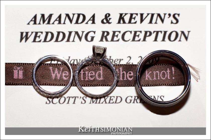 We tied the Knot wedding ring photo