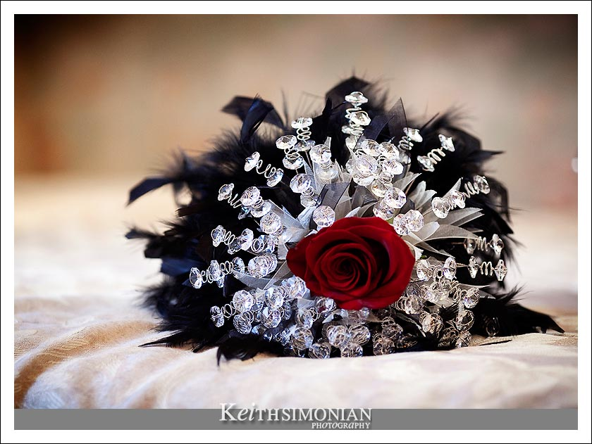The Bride's hand made wedding bouquet.