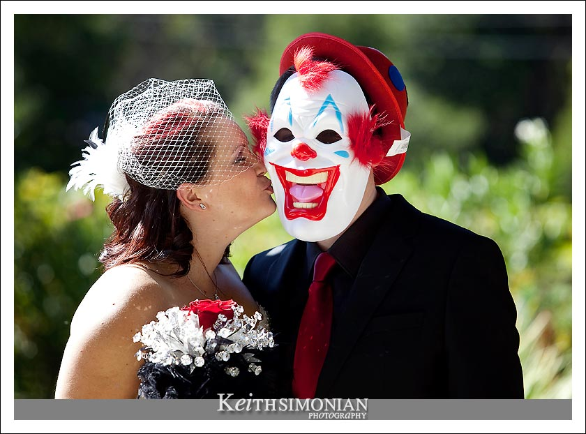 You may now kiss the clown, who also happened to be the groom
