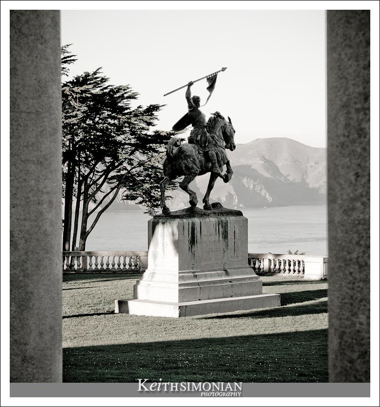 "The El Cid statue looks out over the San Francisco Bay. The nickname ""El Cid"" is actually a nickname for the castillan nobleman Rodrigo Díaz de Vivar."