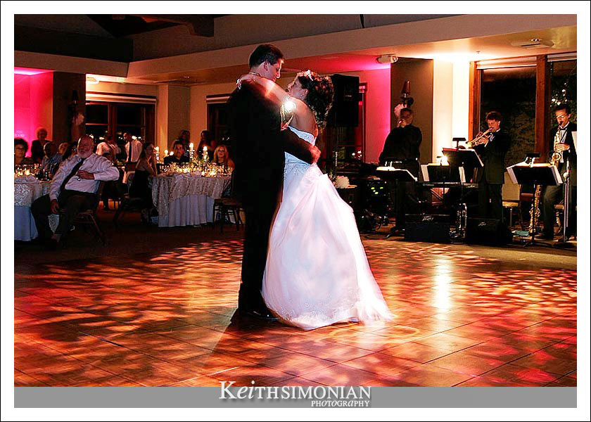 Bride and Groom's first dance in the Garden Ballroom at the Wine and Roses in Lodi, California.