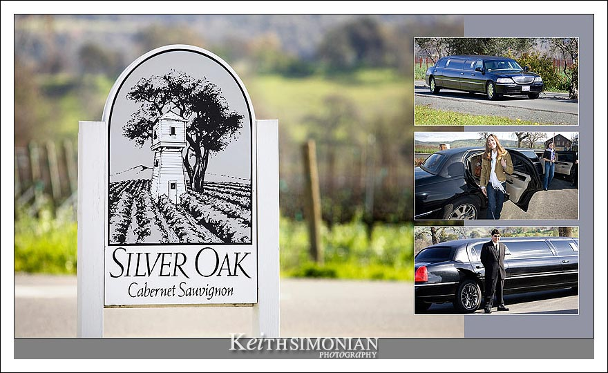 "The limo arrives at Silver Oak Cellars - ""Life is a Cabernet"""