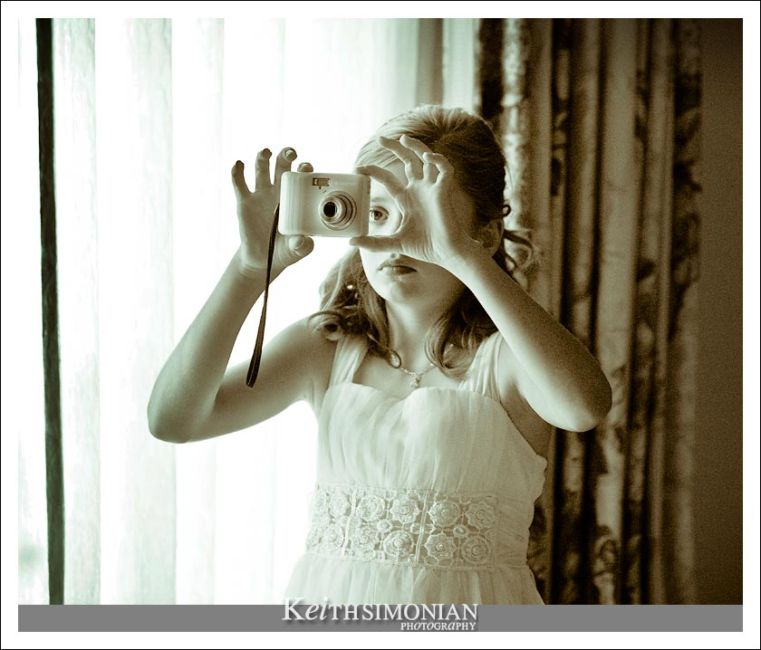 Flower girl takes some photos of her own