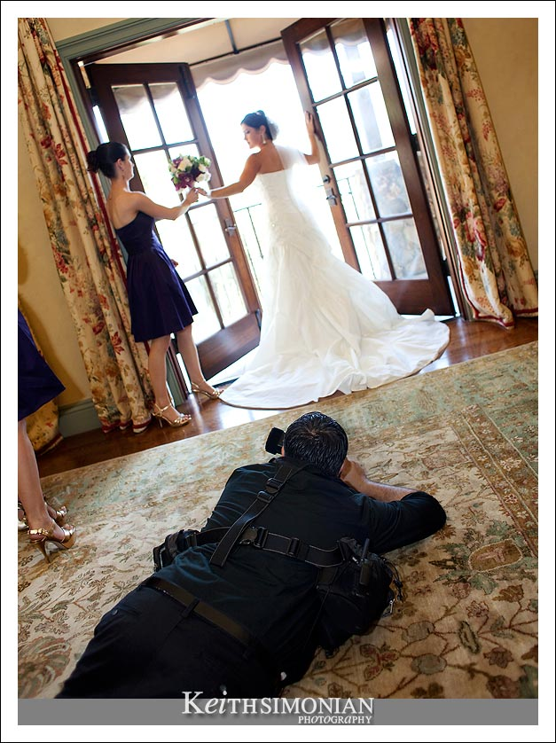 Sam Hassas getting the bride's photos from all the angles