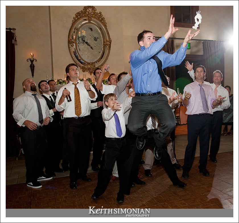 Garter toss - Clos LaChance Winery - San Martin California