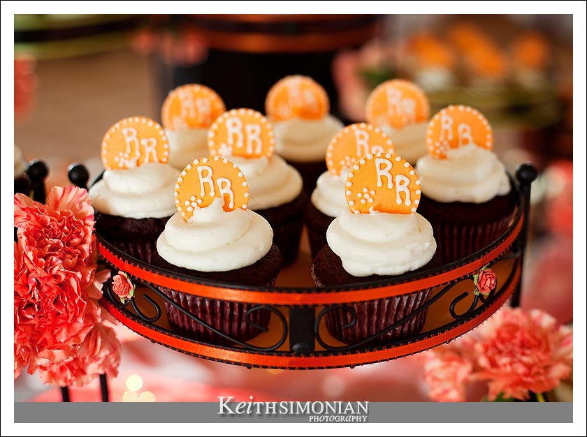 Cupcakes with the bride and groom intials