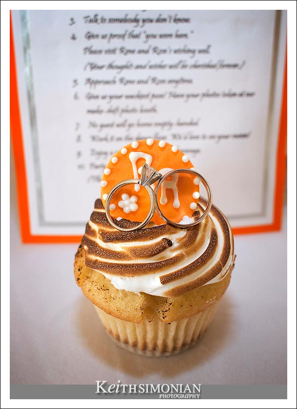 Wedding rings and cupcakes