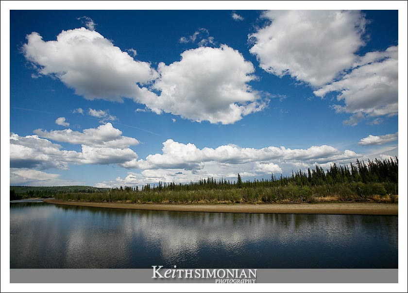 Clouds as seen from Riverboat cruise on the Chena River in Fairbanks, Alaska