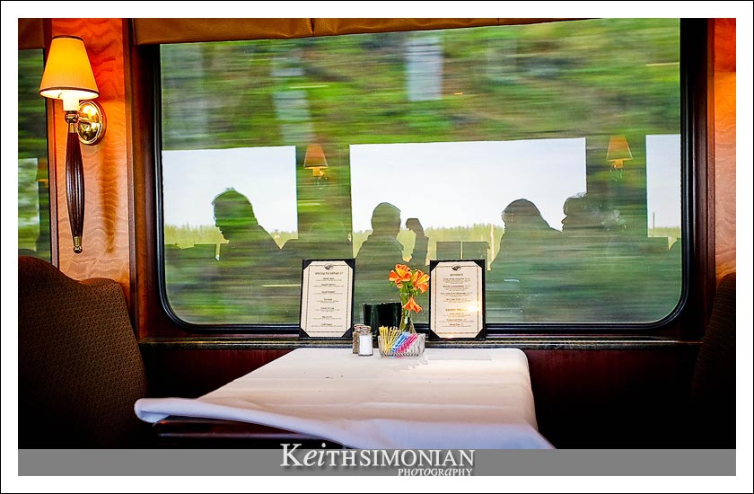 Breakfast at 40 miles per hour aboud the luxurious glass domed traincar of the Royal Caribbean Cruise Line