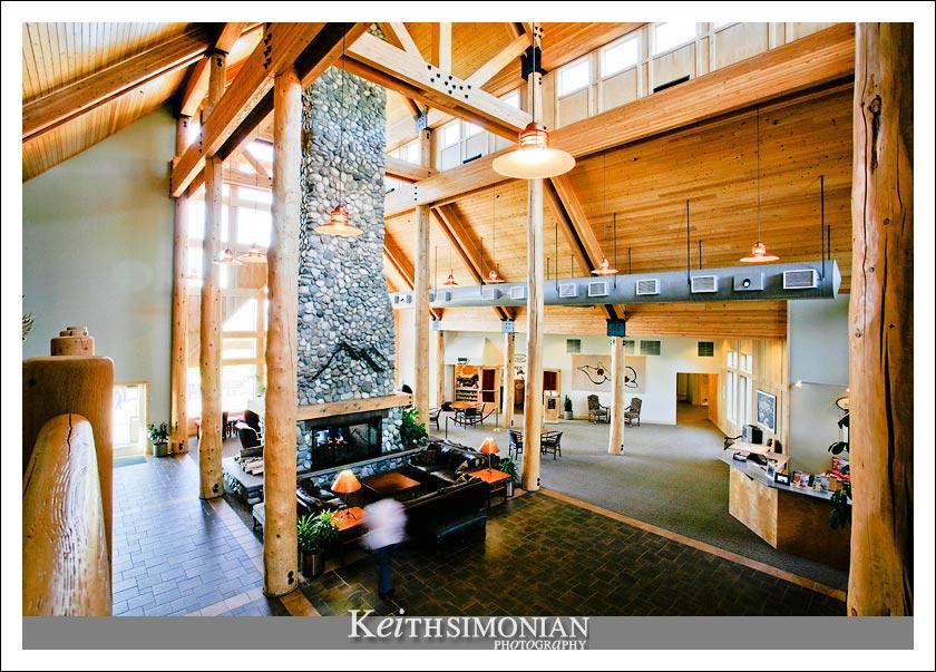 Interior lobby of the Talkeetna Alaskan Lodge