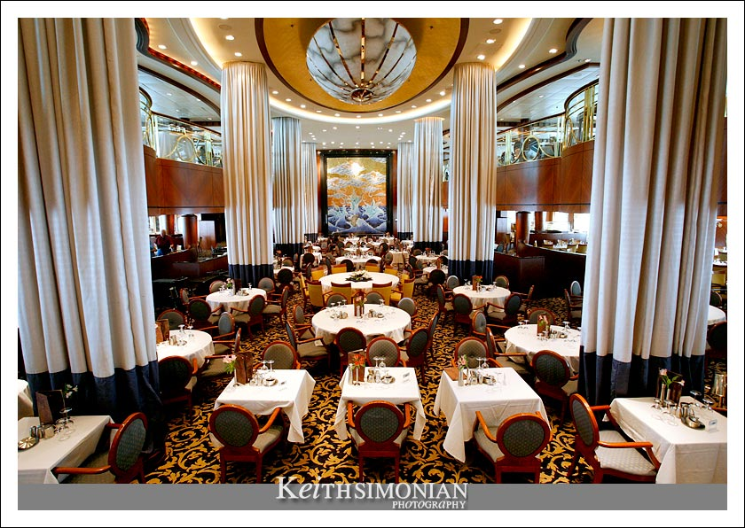 Cascades - The main dining room aboard Royal Carribbean