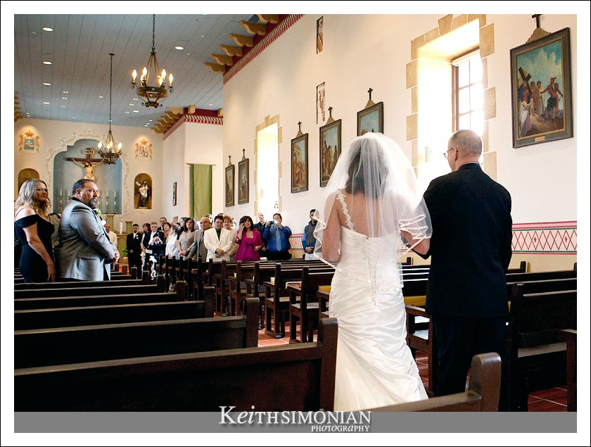 wedding at the historic San Carlos Cathedral in Monterey