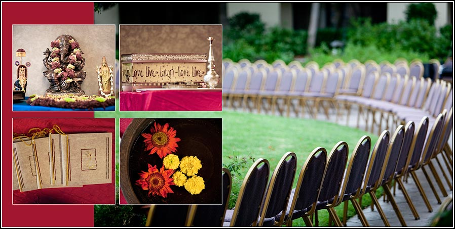 flowers  and programs at Hilton hotel