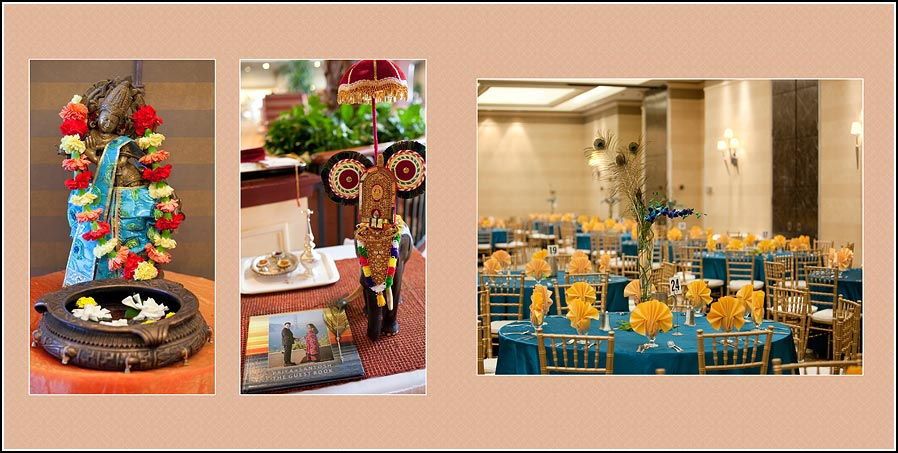 Table decoration photo from the Hilton Hotel in Fremont Newark, California