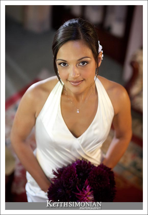 Bridal portrait at the McClelland-Priest Bed and Breakfast Inn