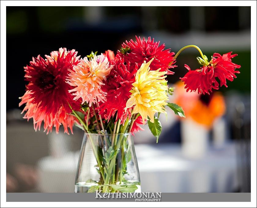 flowers for the backyard wedding ceremony