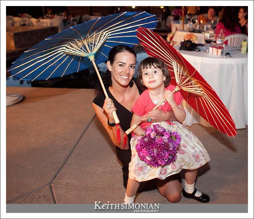 Colored umbrellas make any reception a great reception - Napa Valley, California