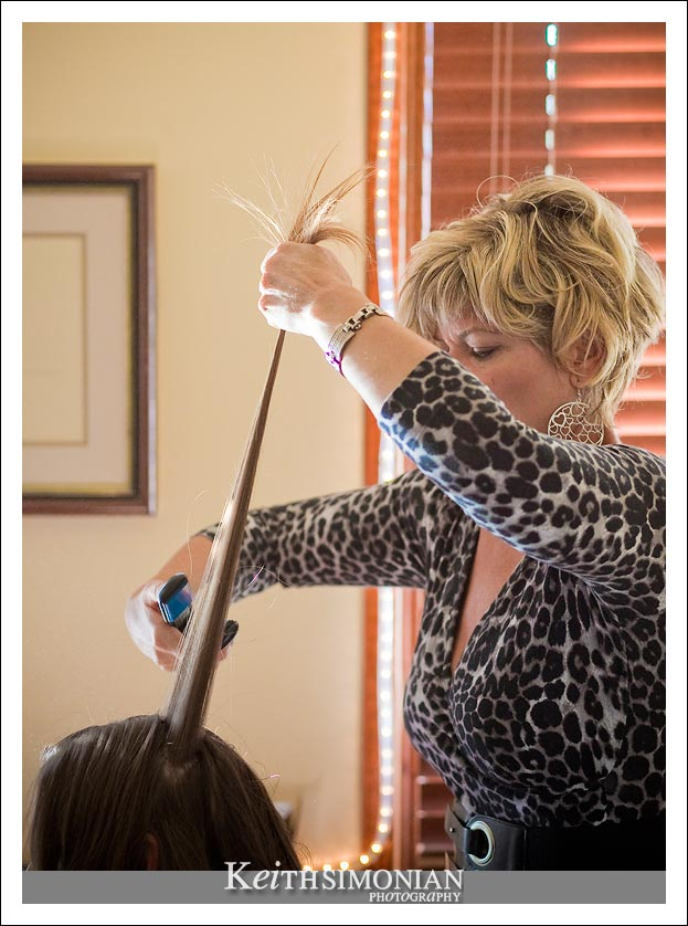 Hair stylist at work photo