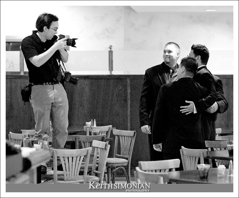 Berkeley wedding photographer at work