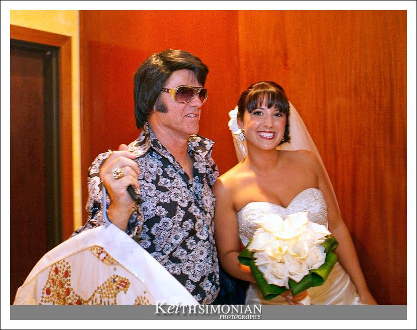 Bride and Elvis photo