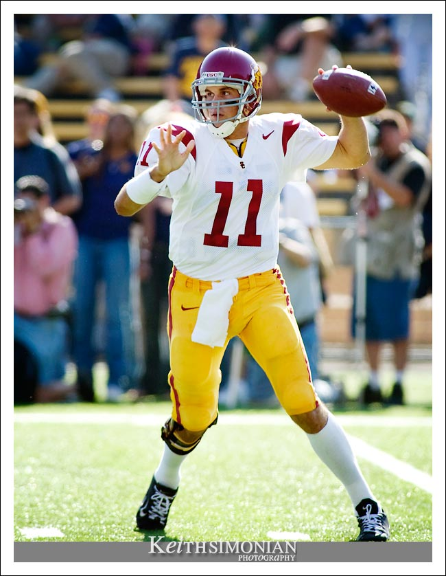 USC quarterback Matt Leinart - - CAL vs USC - September 27, 2003 Memorial Stadium - Berkeley, CA