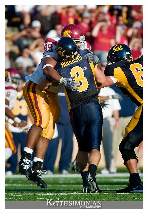 #99 Mike Paterson of USC - CAL vs USC - September 27, 2003 Memorial Stadium - Berkeley, CA
