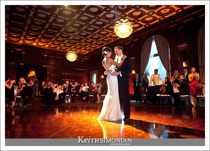 Bride and groom share first dance at Julia Morgan Ballroom - San Francisco