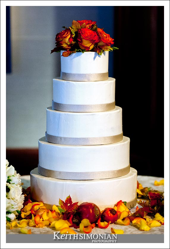 Five layer wedding white wedding cake