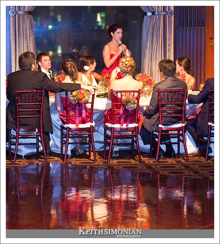 Toast given by Maid of Honor in Julia Morgan Ballroom - San Francisco, CA