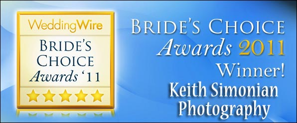 2011 Wedding Wire Bride's Award winner for wedding photography