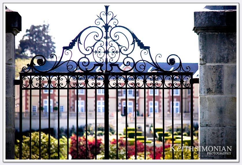 Gate in front of the Domaine Carneros Winery