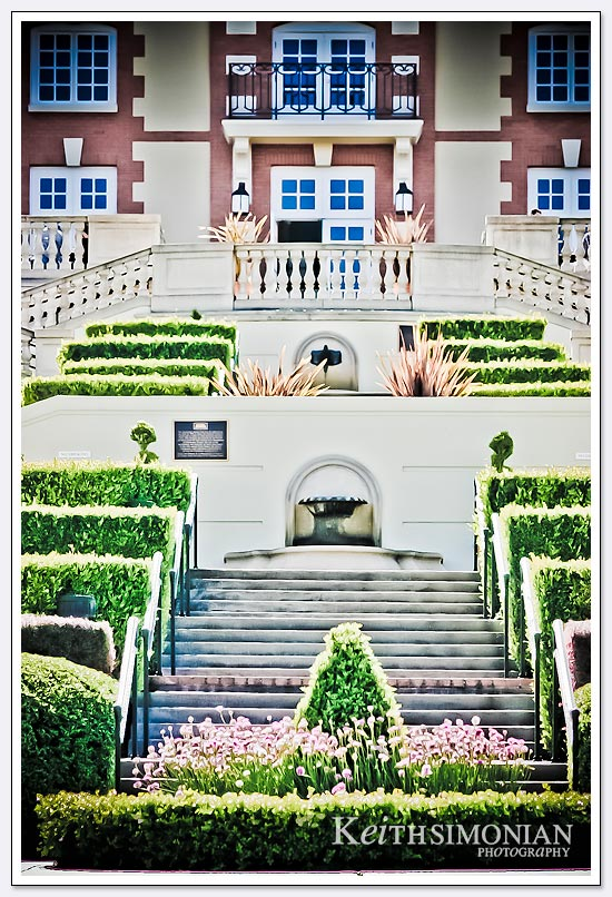 The front stairs of the Domaine Carneros Winery - Napa Valley