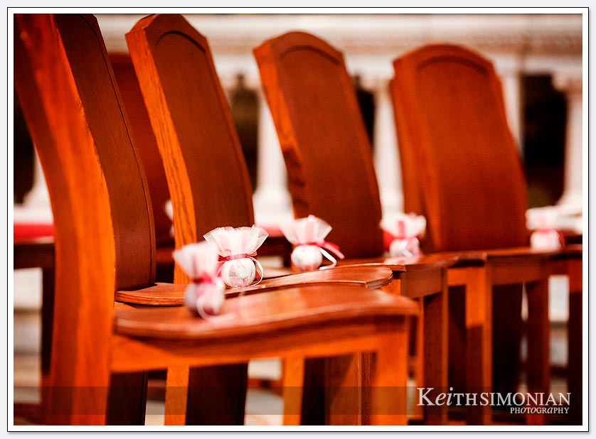 Guest gifts on chairs