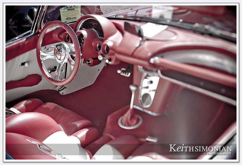 Hot-August-Nights-Reno-Neveda-09-Candy Apple Red corvette interior