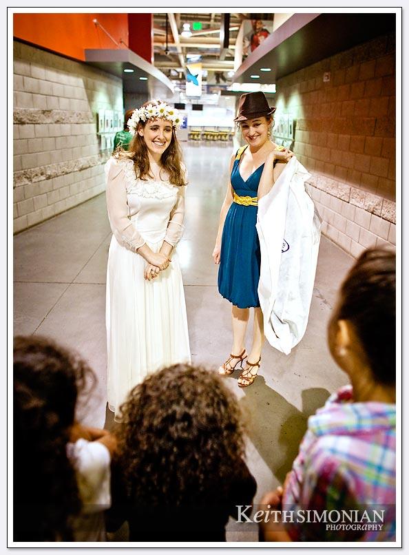 Bride - Maid of Honor at sportsplex